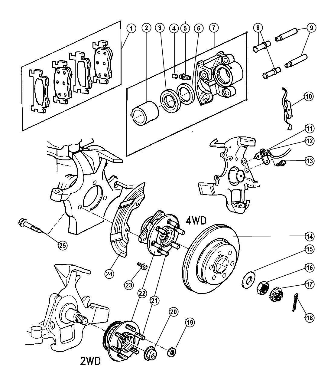 2000 dodge dakota caliper  right  disc brake  reman loaded