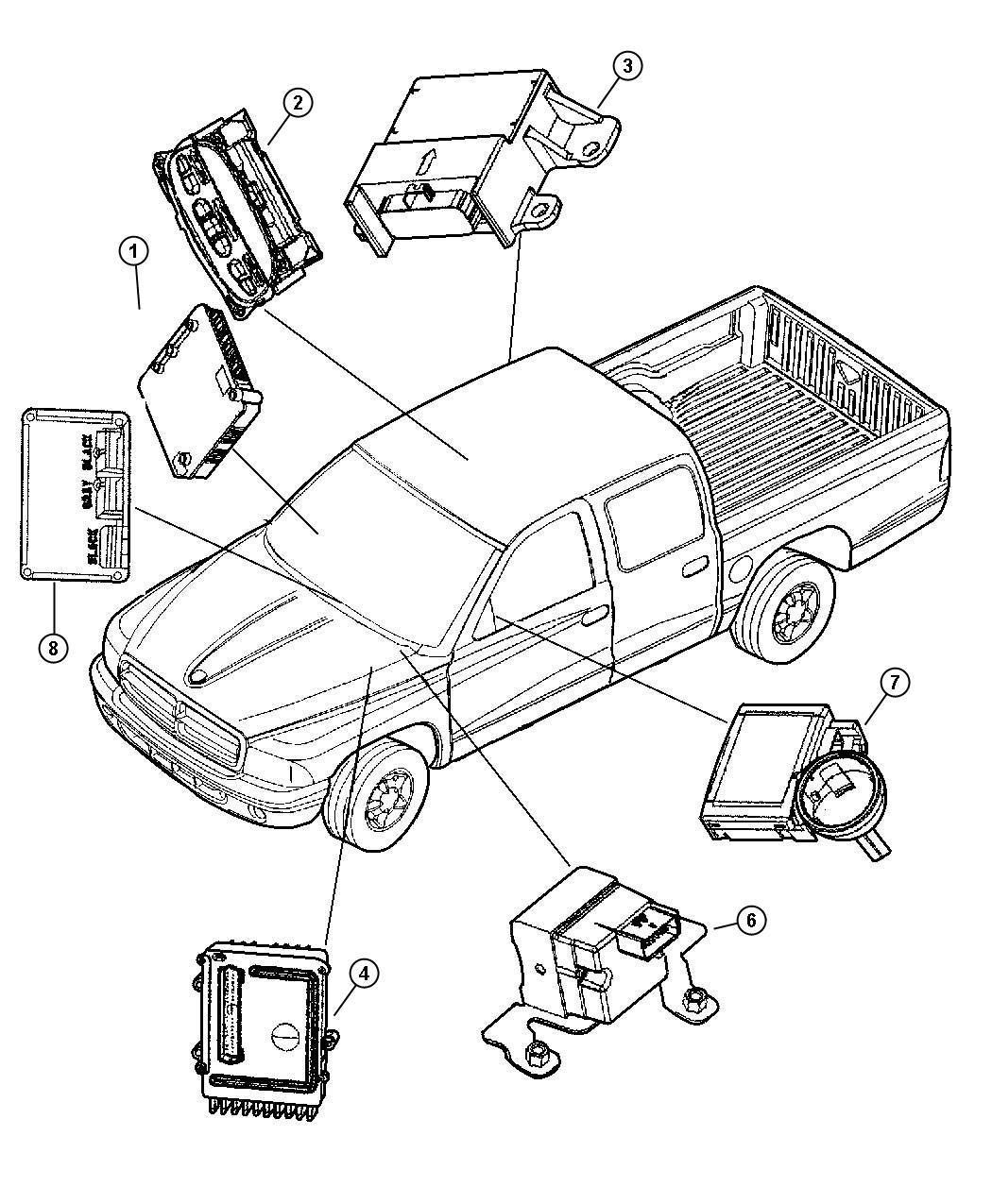 2002 Dodge Dakota Module  Transmission Control