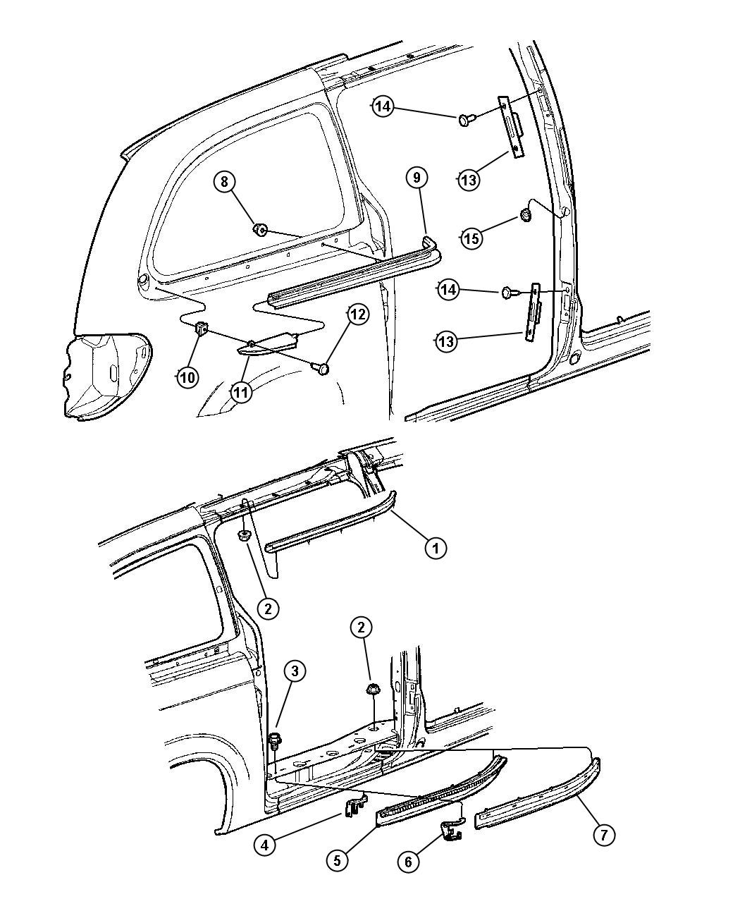 2002 Dodge Grand Caravan Cover Sliding Door Track Right Wiring Diagram