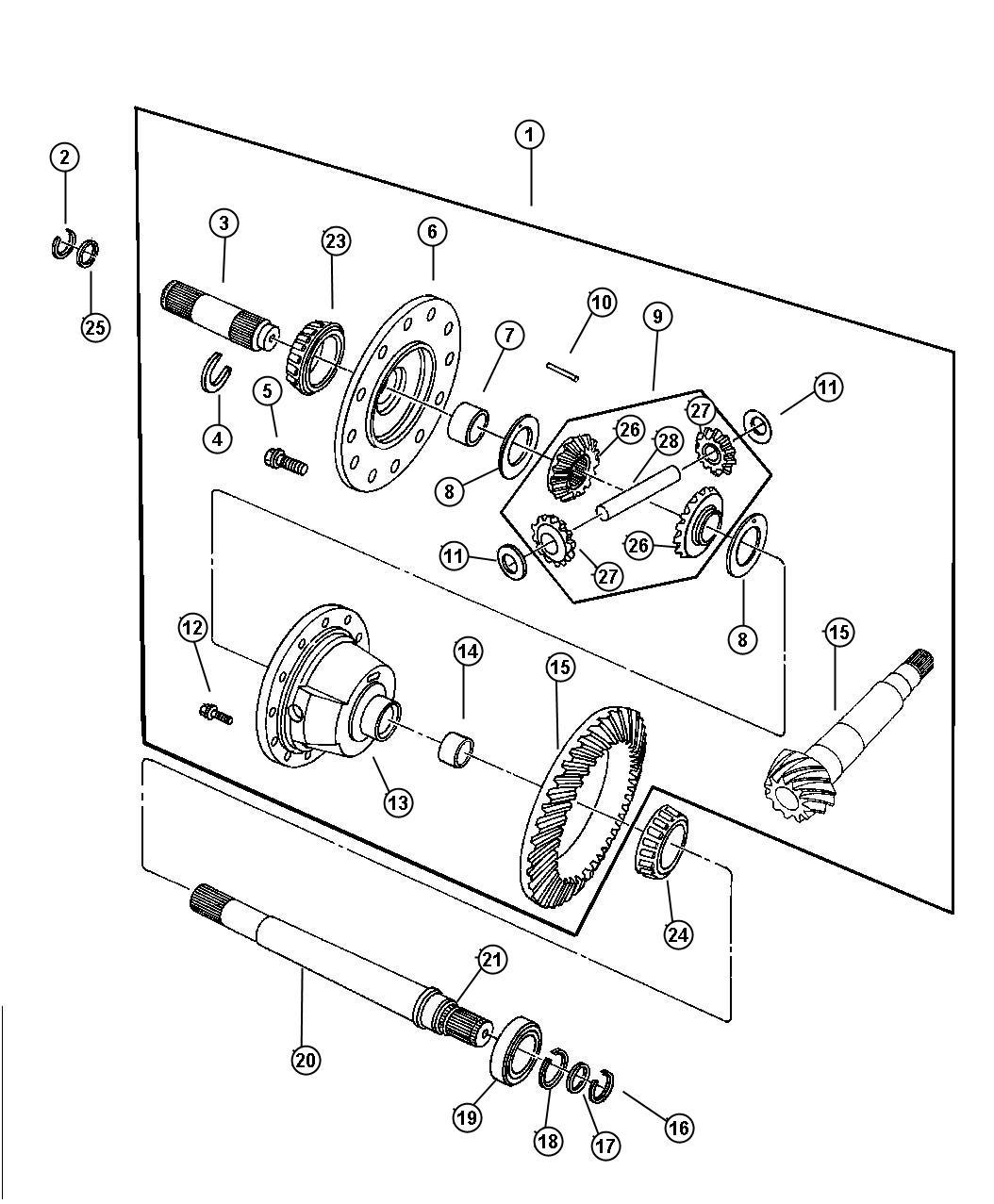 2003 dodge intrepid pinion  differential  pinion
