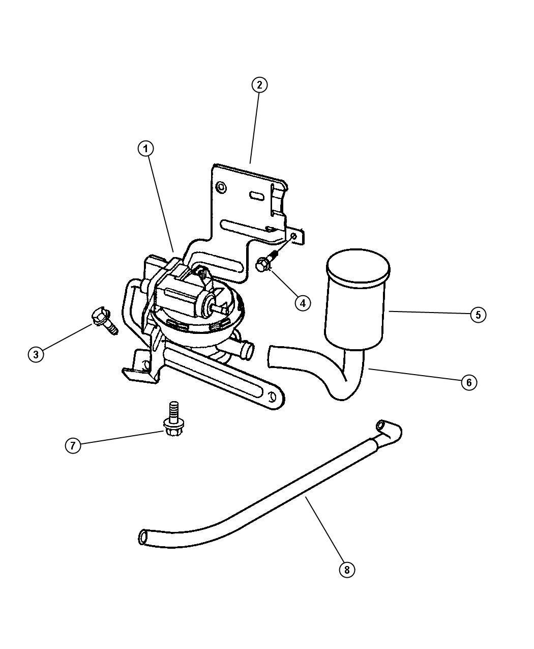 1997 dodge caravan hose  leak detection pump to canister  emissions