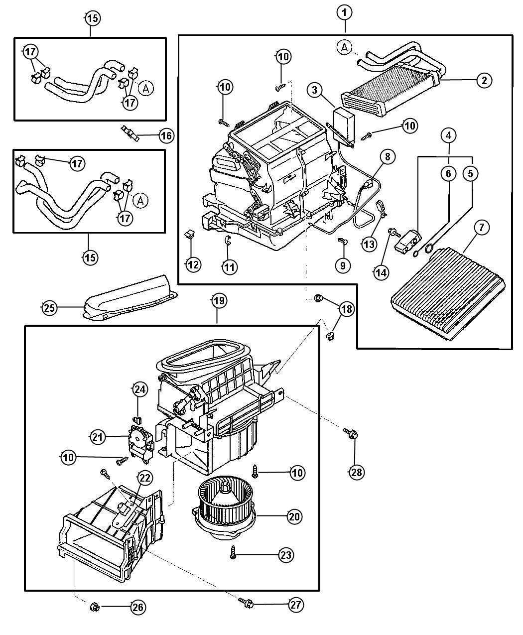 dodge caravan bolt  m6x20  washer  rear  seat