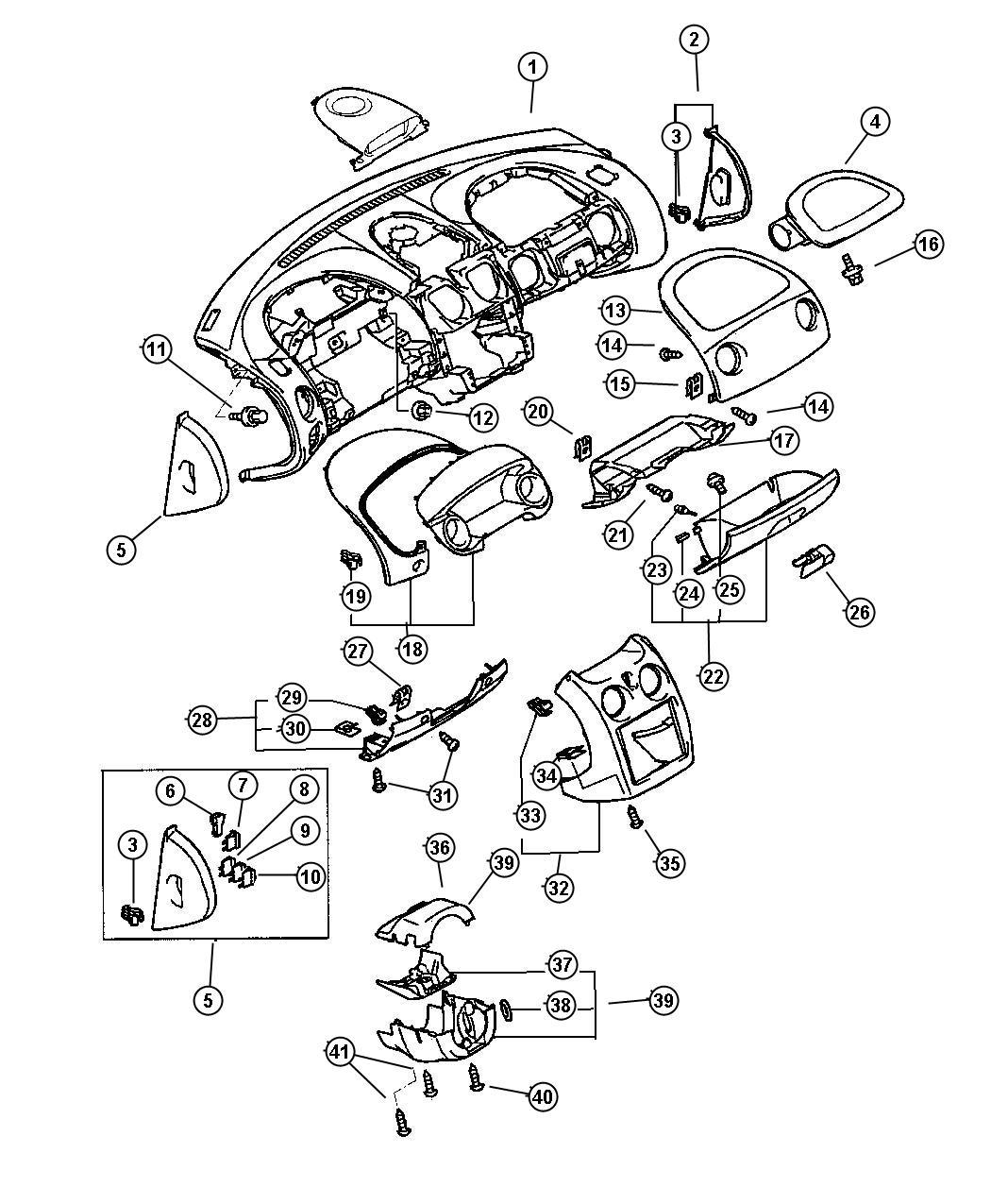 2002 Chrysler Sebring Fuse. Mini. 10 amp, red. Electrical ...