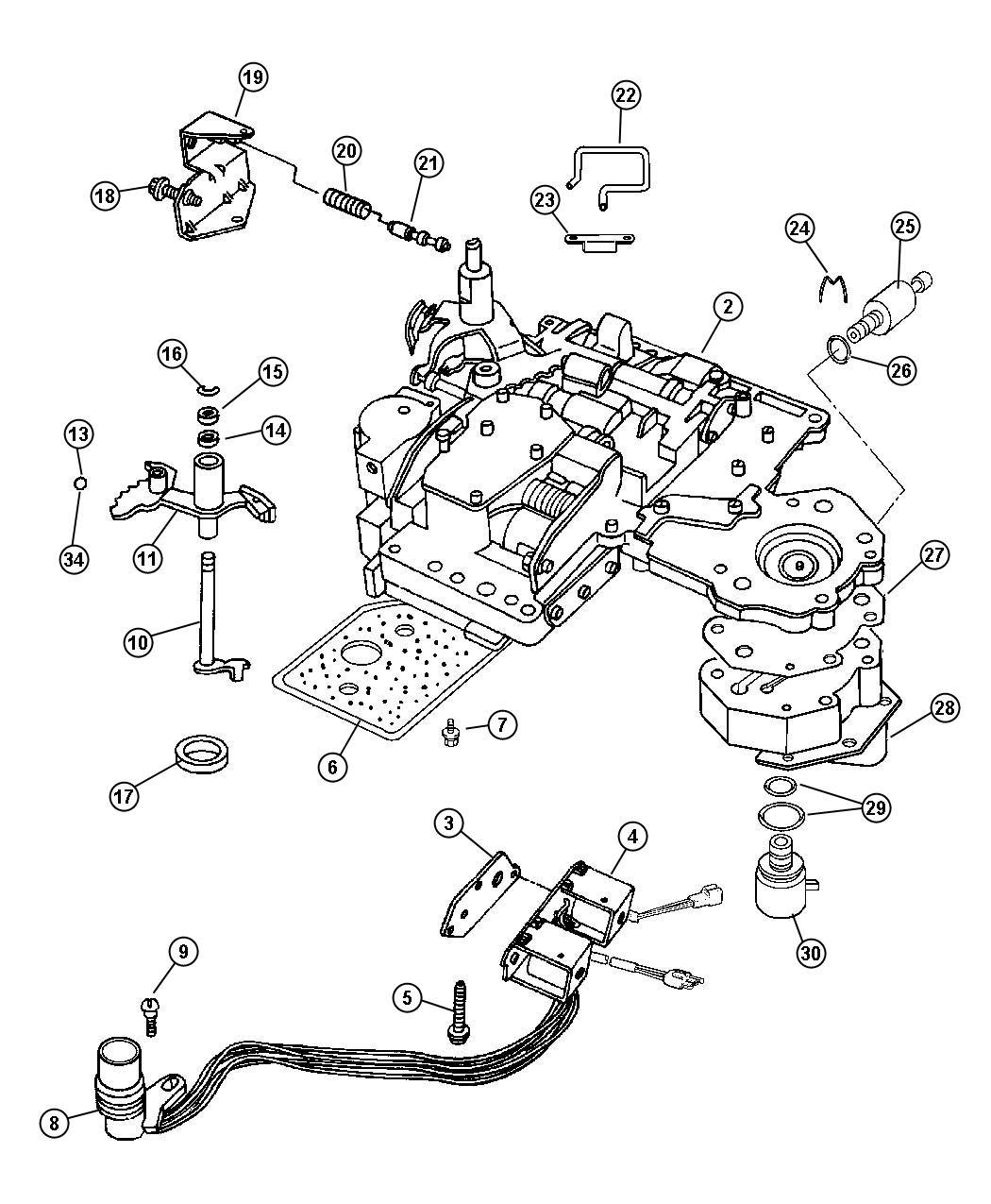 2009 dodge dakota valve  regulator  body  dgp  shaft