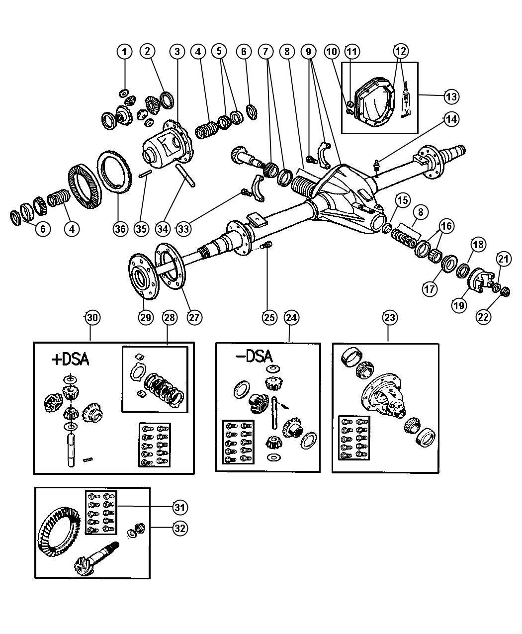2001 dodge ram 1500 shim  shim kit  differential