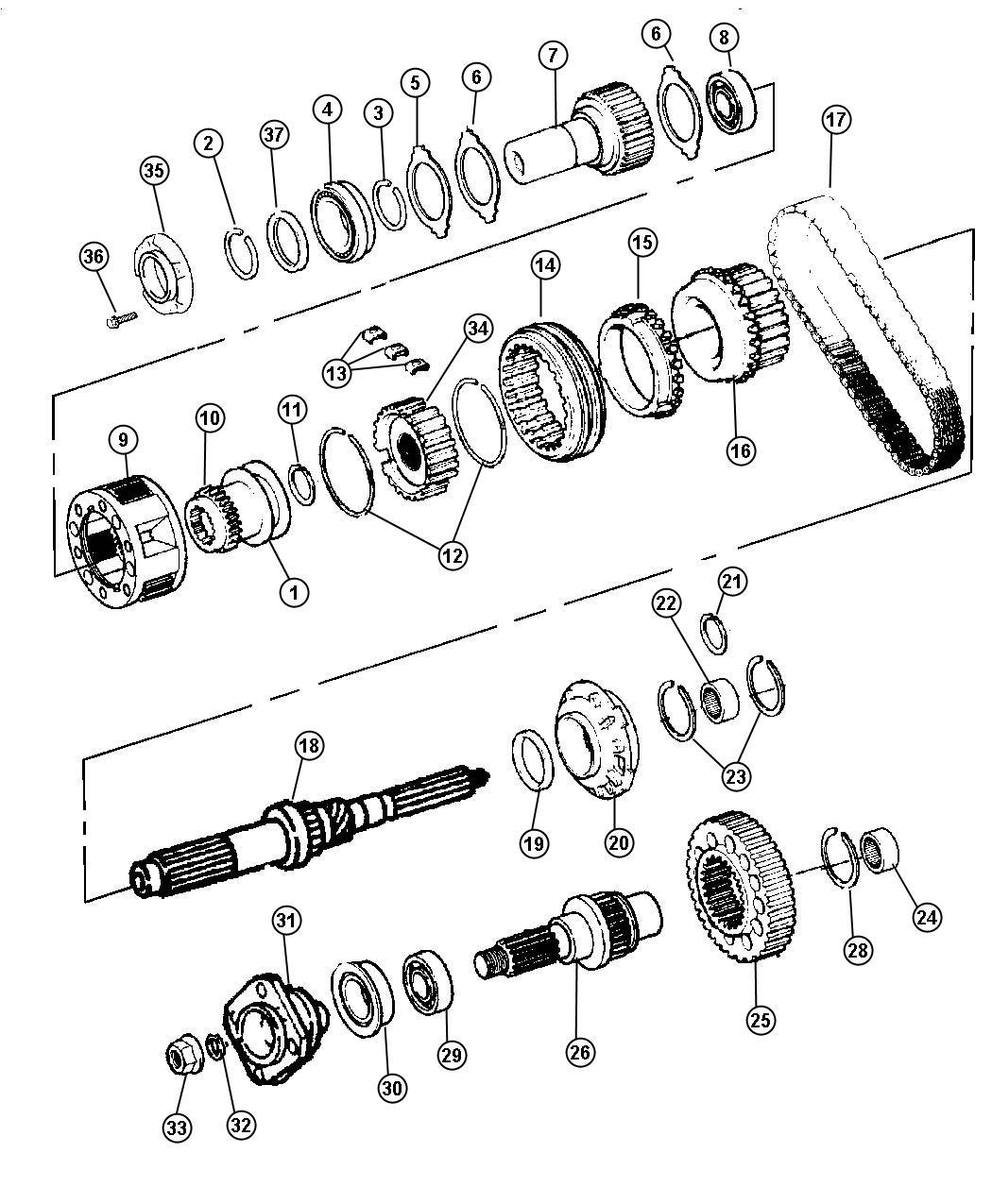 1999 chrysler sebring pump  transfer case oil  gear  train