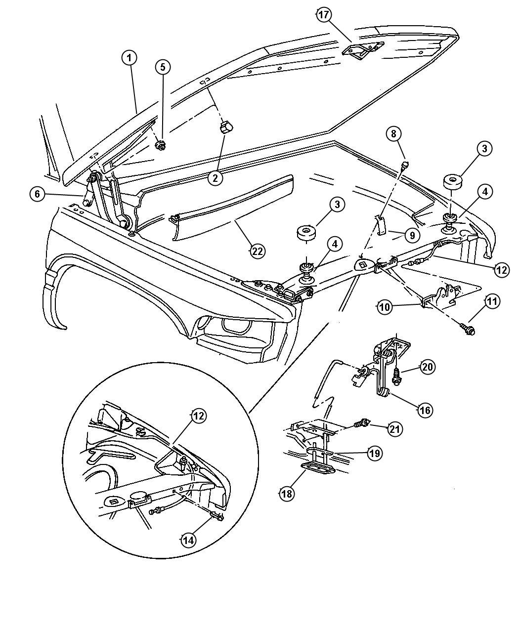 2002 Dodge Dakota Guide  Hood Safety  Body  Release
