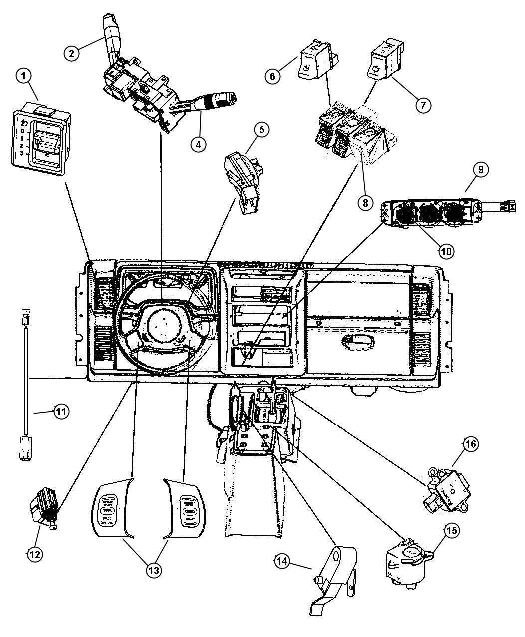2005 jeep wrangler switch  passenger airbag disarm  air