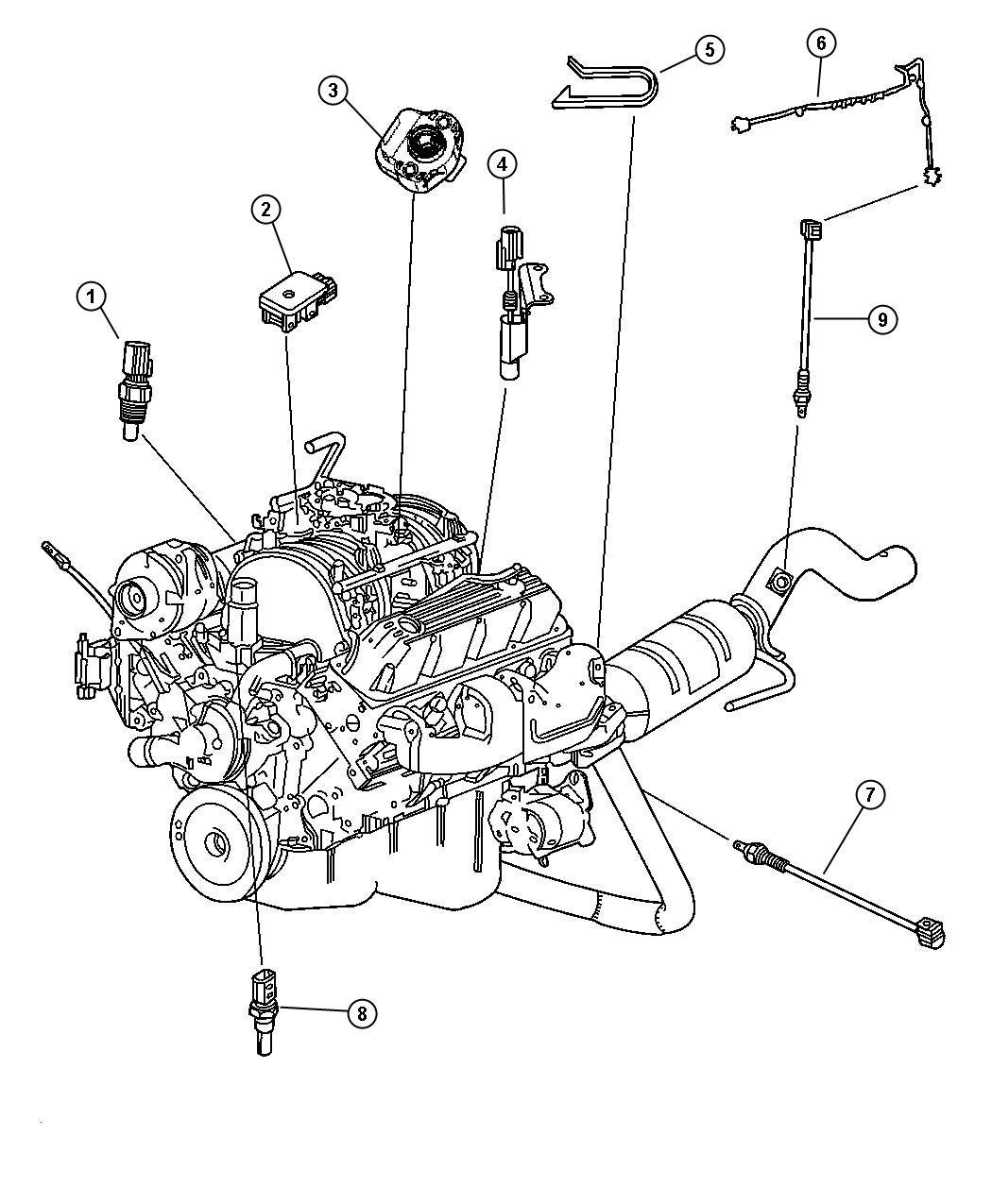 1993 dodge dakota sensor  coolant temperature  torque converter  clutc  compress  acid