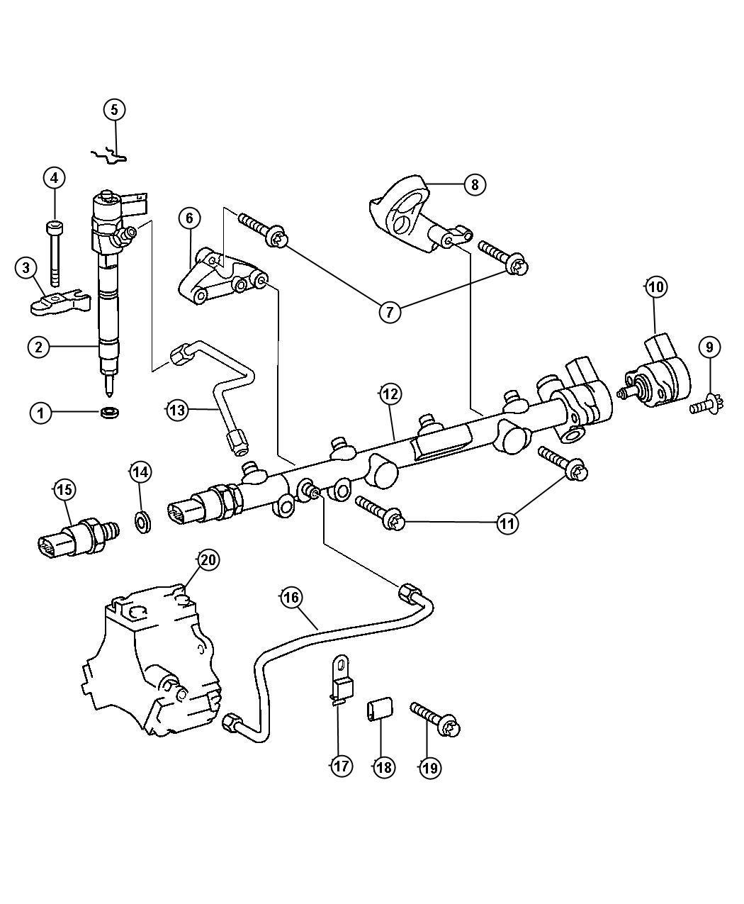 Dodge Sprinter 3500 Bracket  Fuel Rail  System