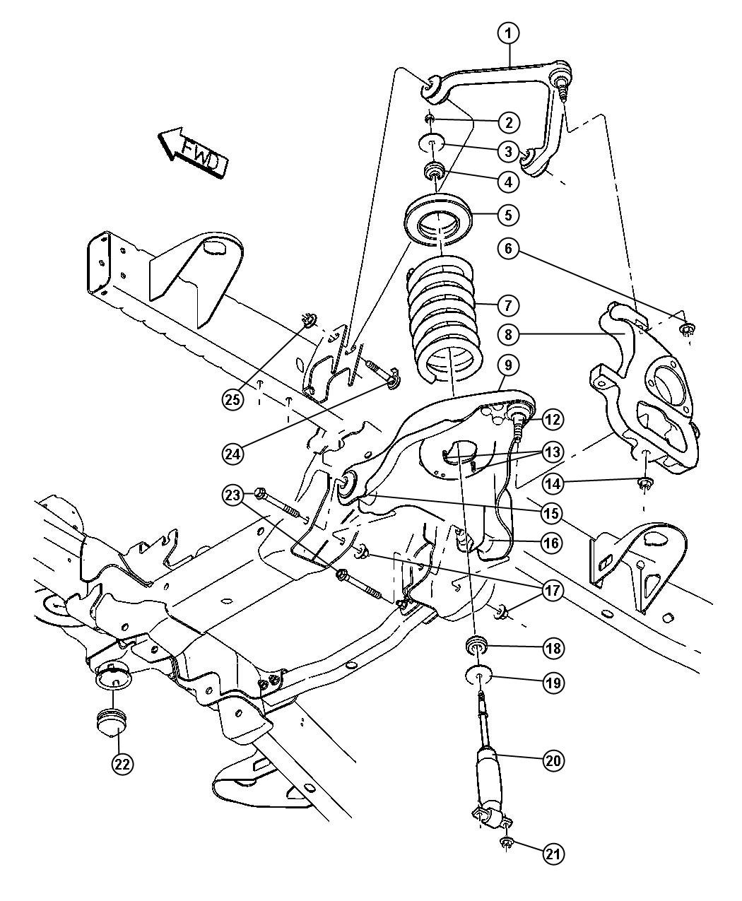 2003 Dodge Ram 1500 Bushing  Control Arm  Lower  Lower