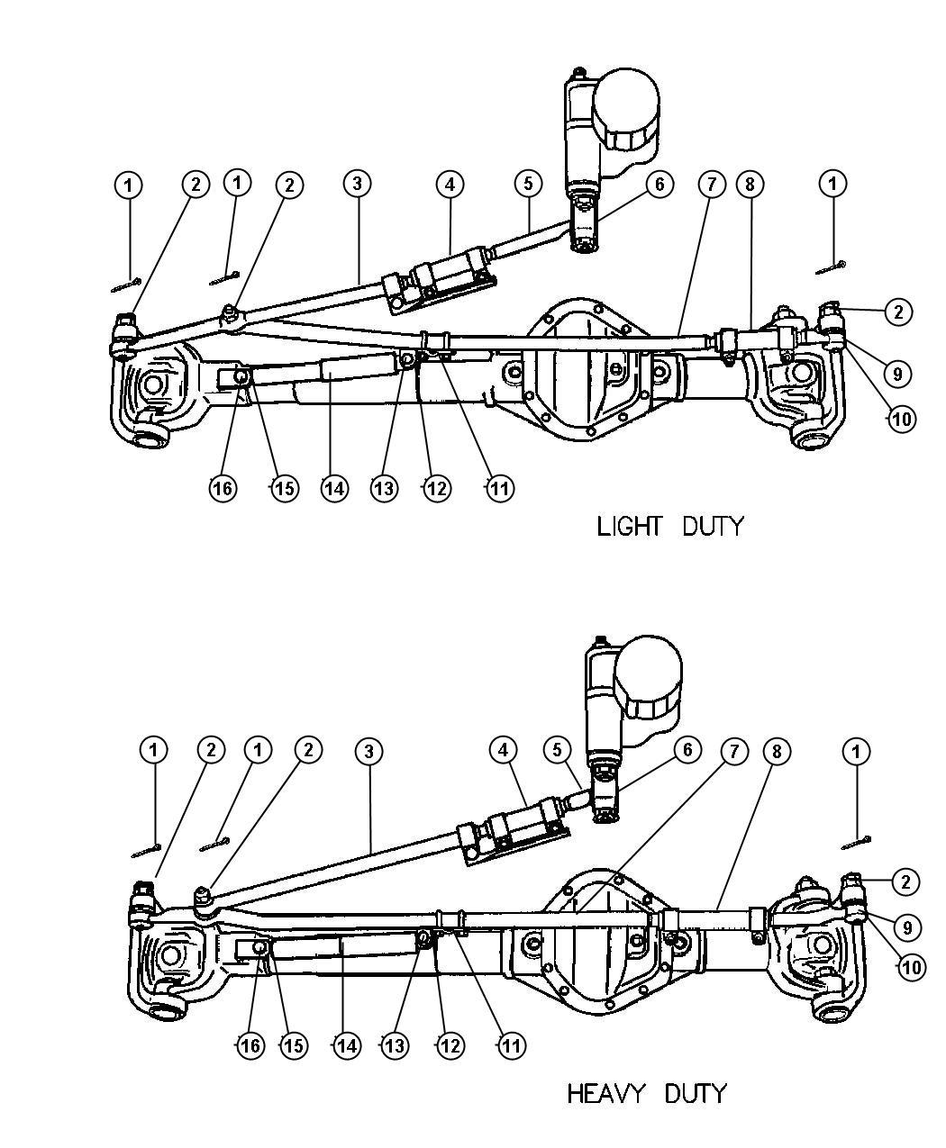 2000 dodge durango damper  steering  rating  gvw  work
