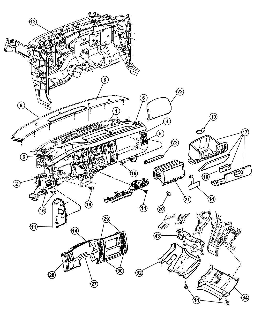 2003 dodge dakota handle  parking brake   l5   trim    o0