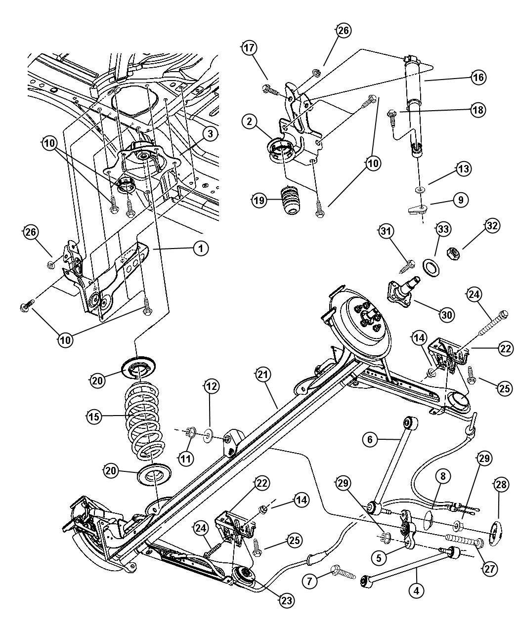 2008 Dodge Challenger Spring Rear Coil Suspension Zeu