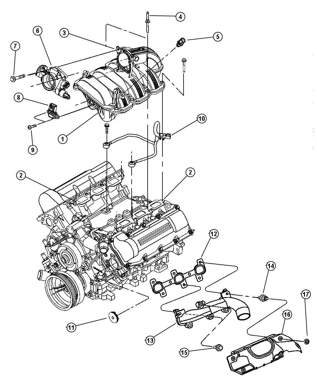 2007 Jeep Compass Manifold  Intake  Manifolds
