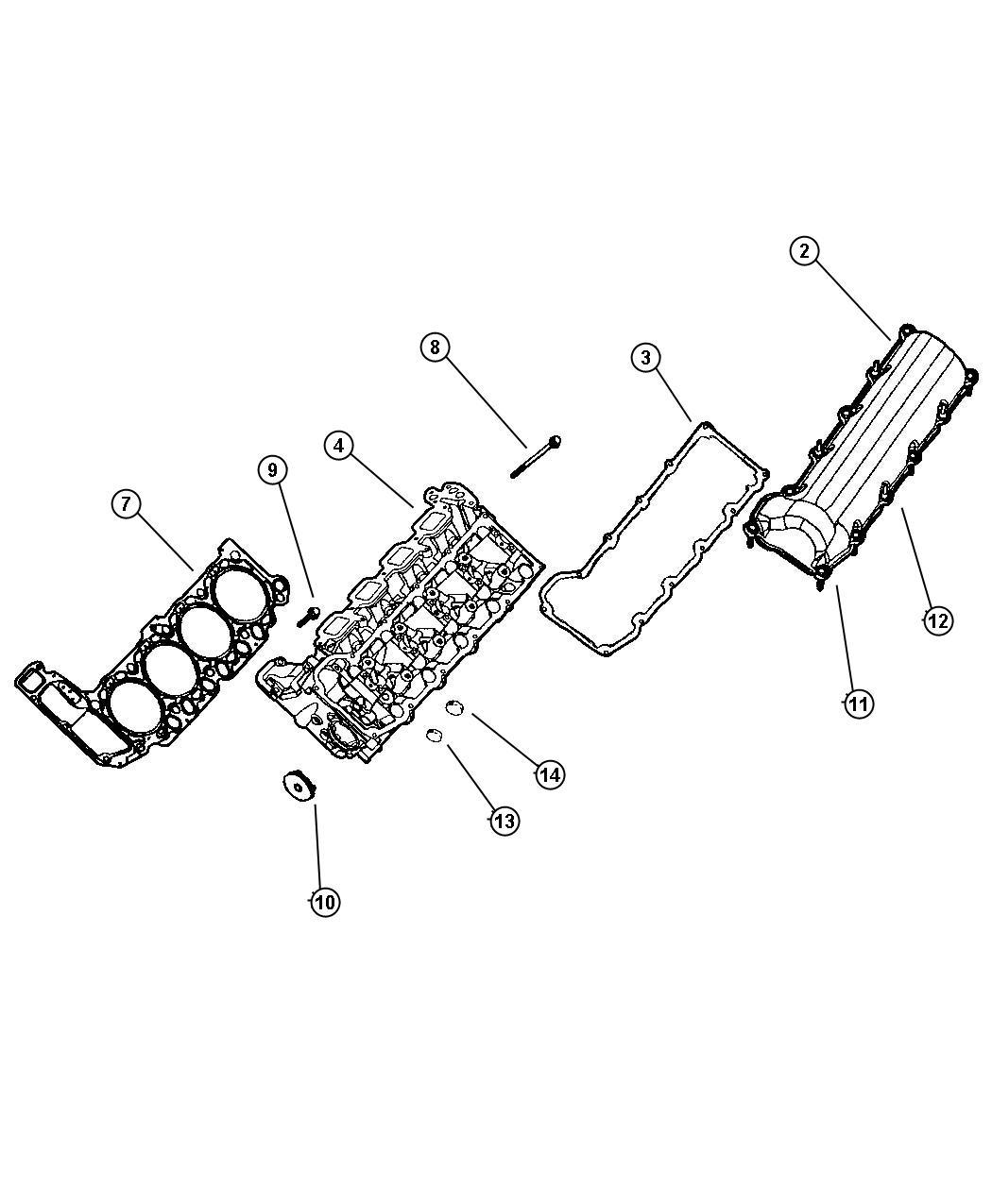 Dodge Dakota Gasket package. Engine upper. Cylinder, head ...