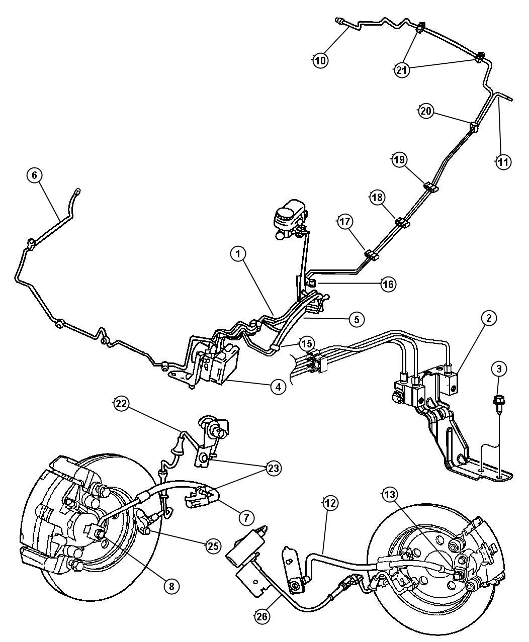 I on 2004 Sebring Rear Brake Diagram