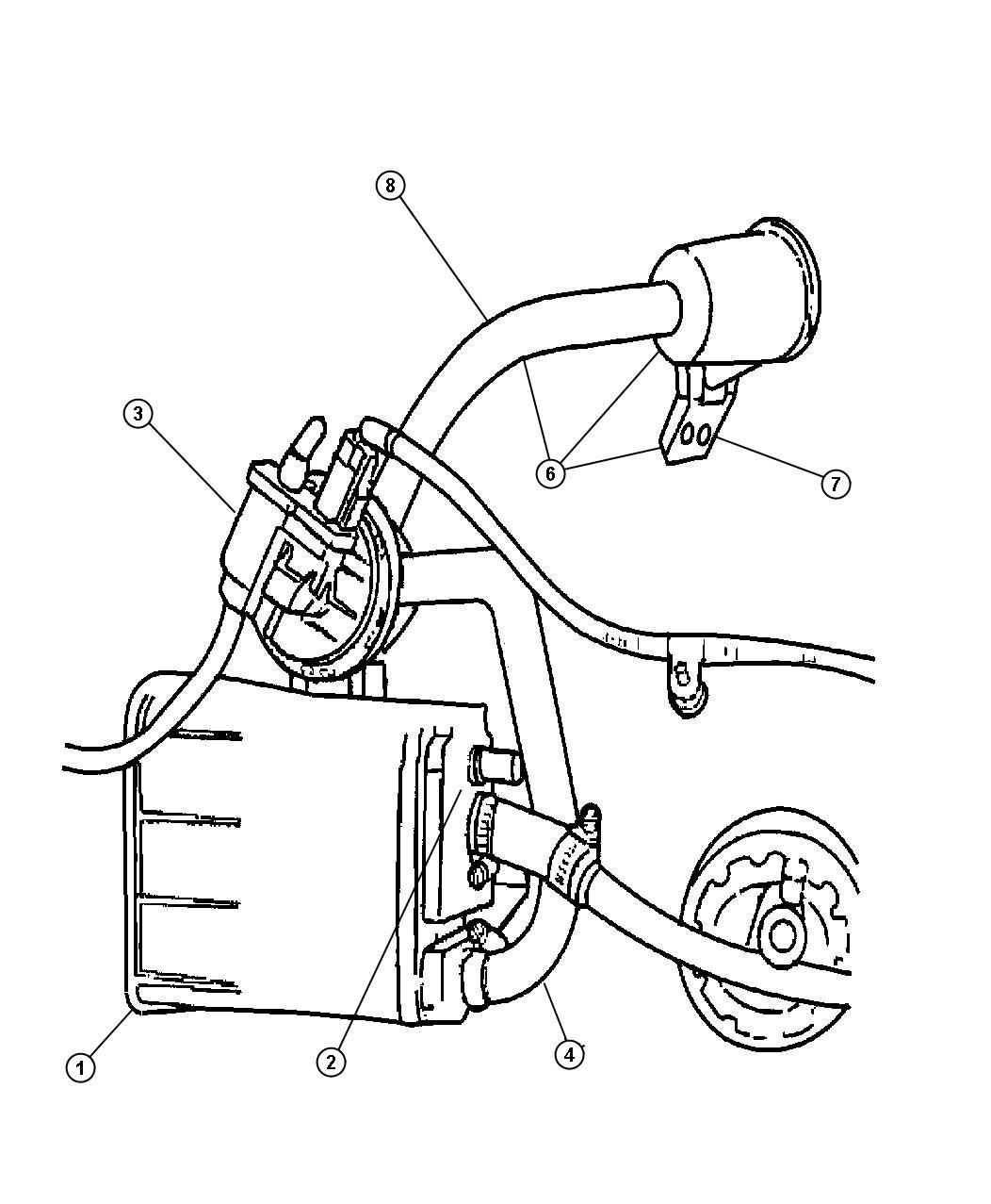 dodge charger canister  vapor  emissions  state  pump