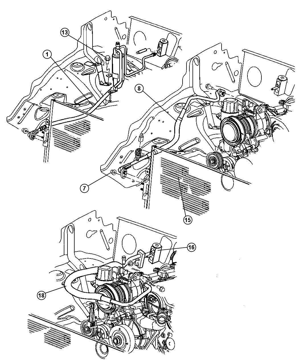 2000 dodge durango condenser  air conditioning  engine  related  radiator
