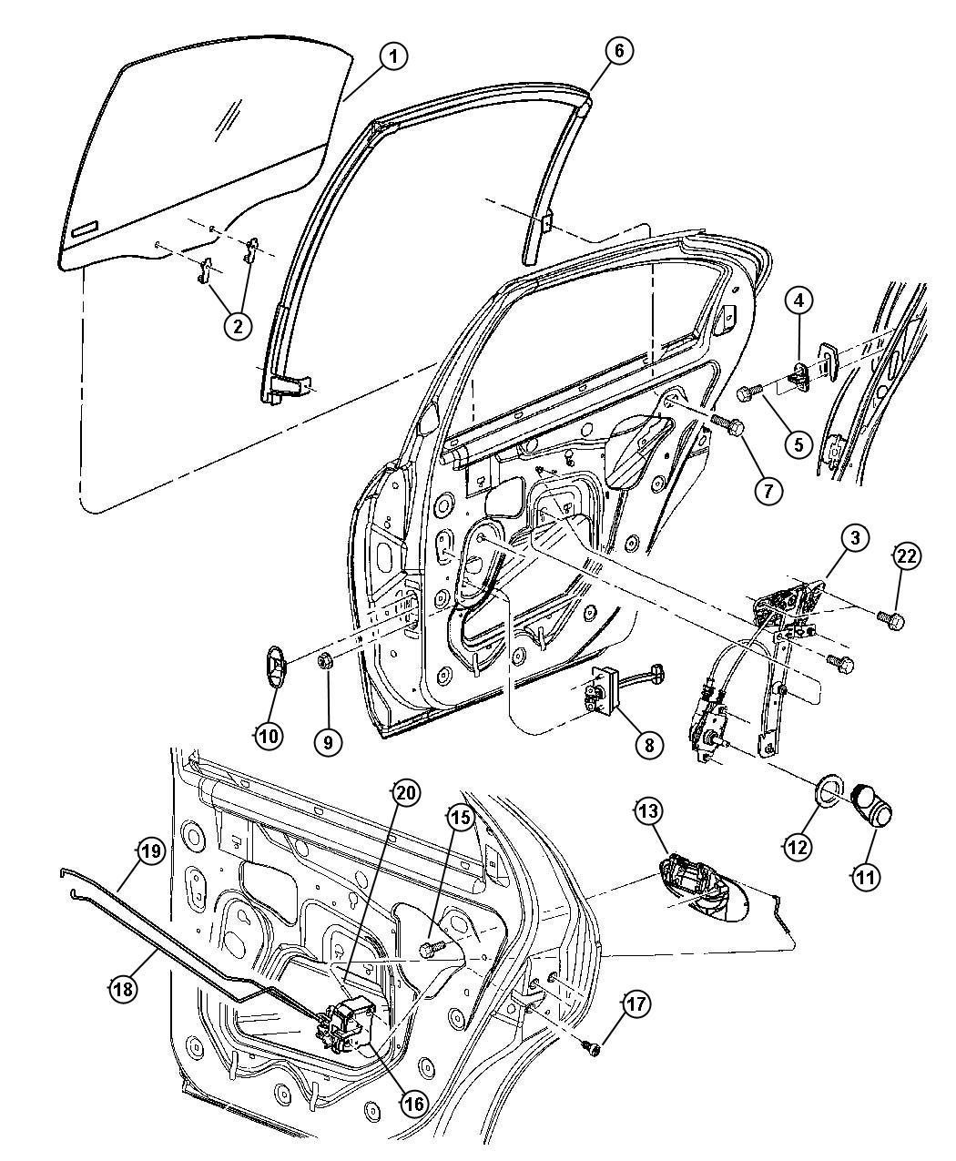 2012 dodge charger latch  left  rear door  manual  locks