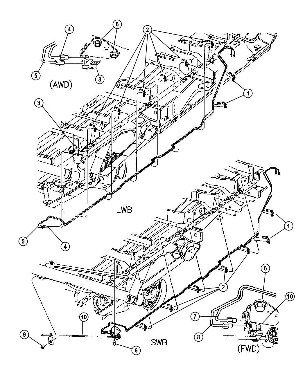 Chrysler Voyager Valve  Height Sensing Brake