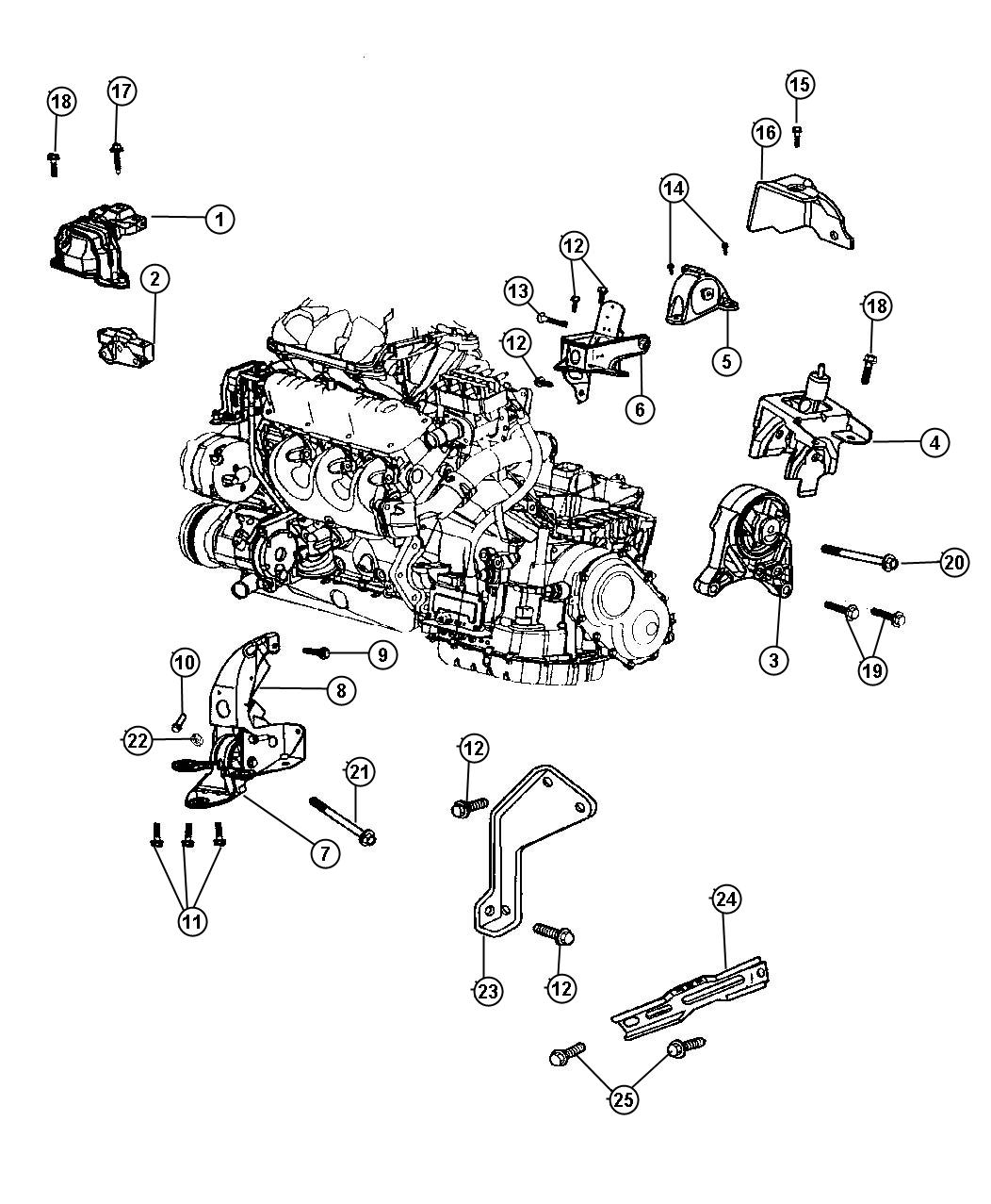 2003 chrysler town & country support. engine mount. rail ... chrysler 3 8l engine diagram #8