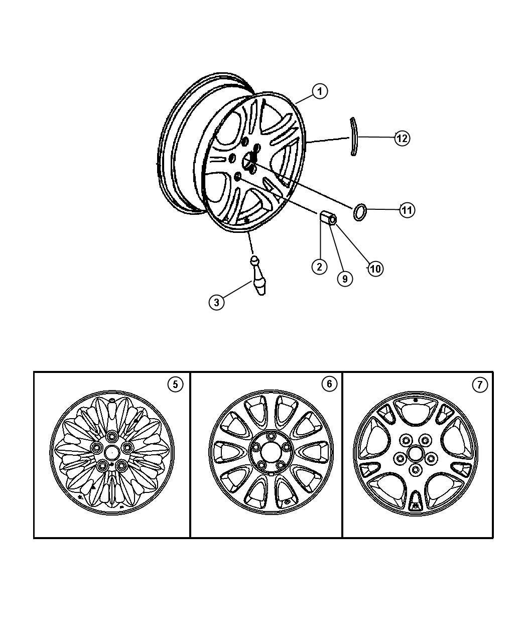 Chrysler Voyager Wheel  Aluminum   16x6 5 Aluminum Wheels   Color   No Description