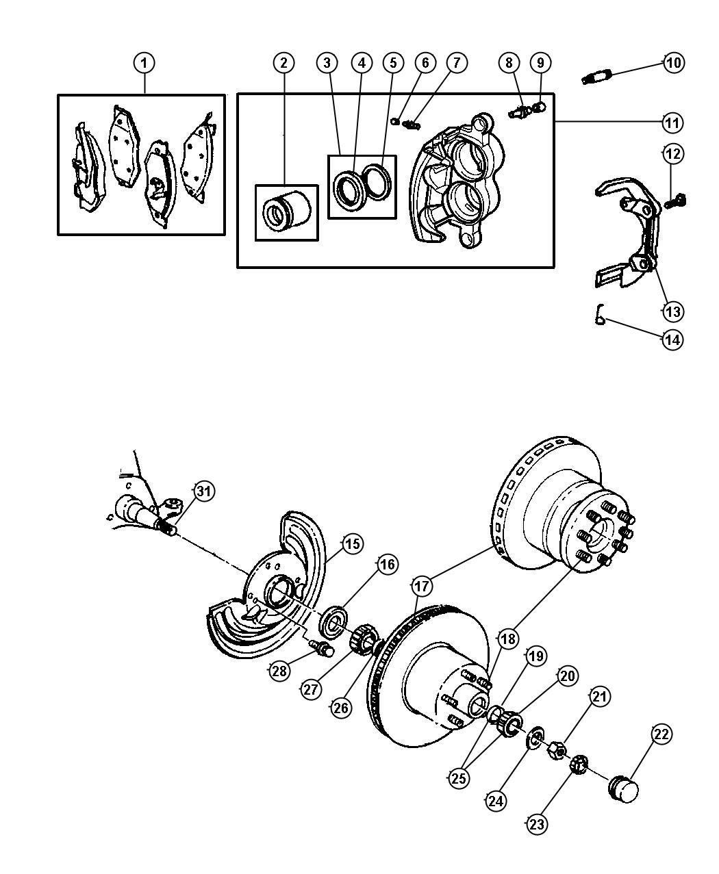 2000 Chrysler Concorde Seal  Wheel Bearing   Axle
