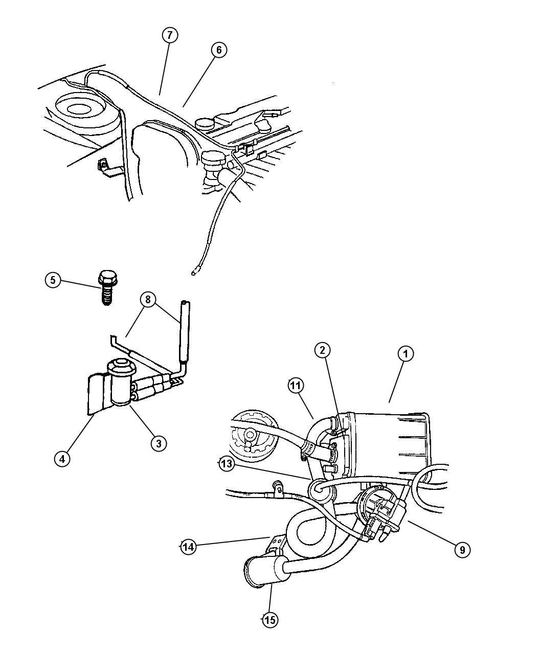 Chrysler Cirrus Valve  Vent  Leak  Pump  Detection