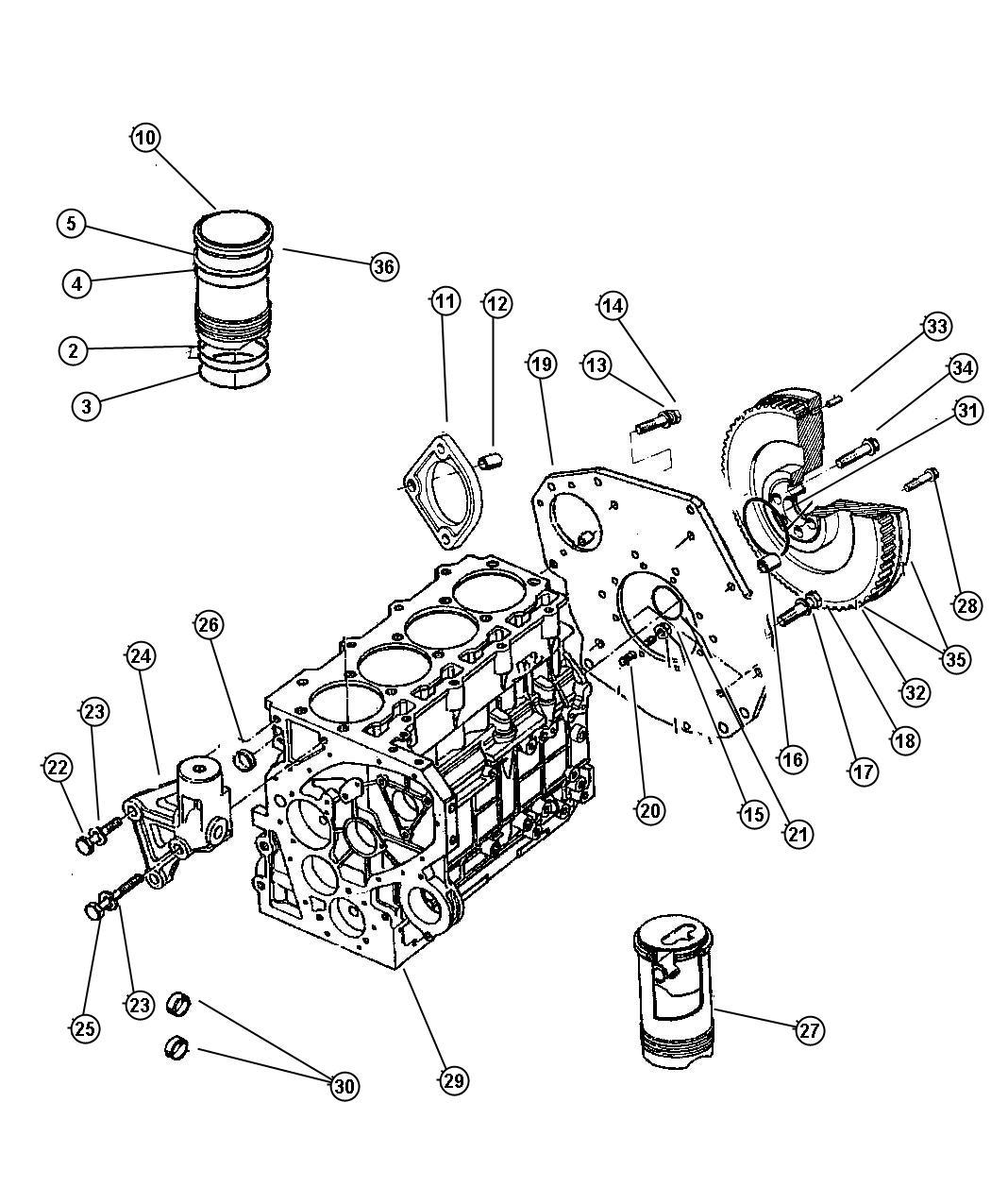 1997 Chrysler Voyager Plug  Cylinder Block Oil Hole  Enc  Enr  Passages