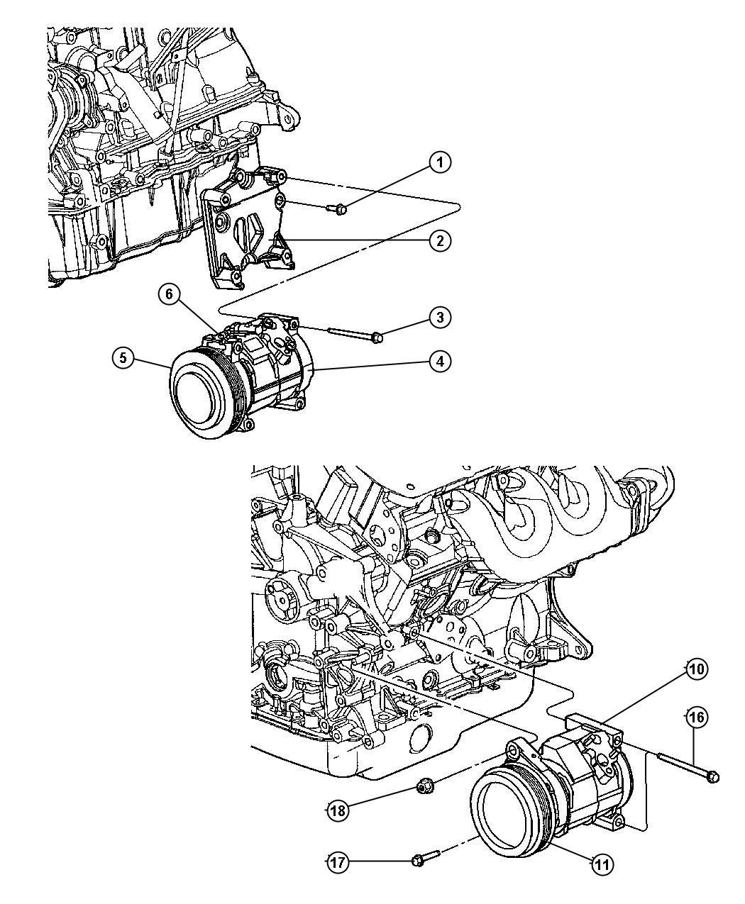 Dodge Grand Caravan Compressor  Air Conditioning