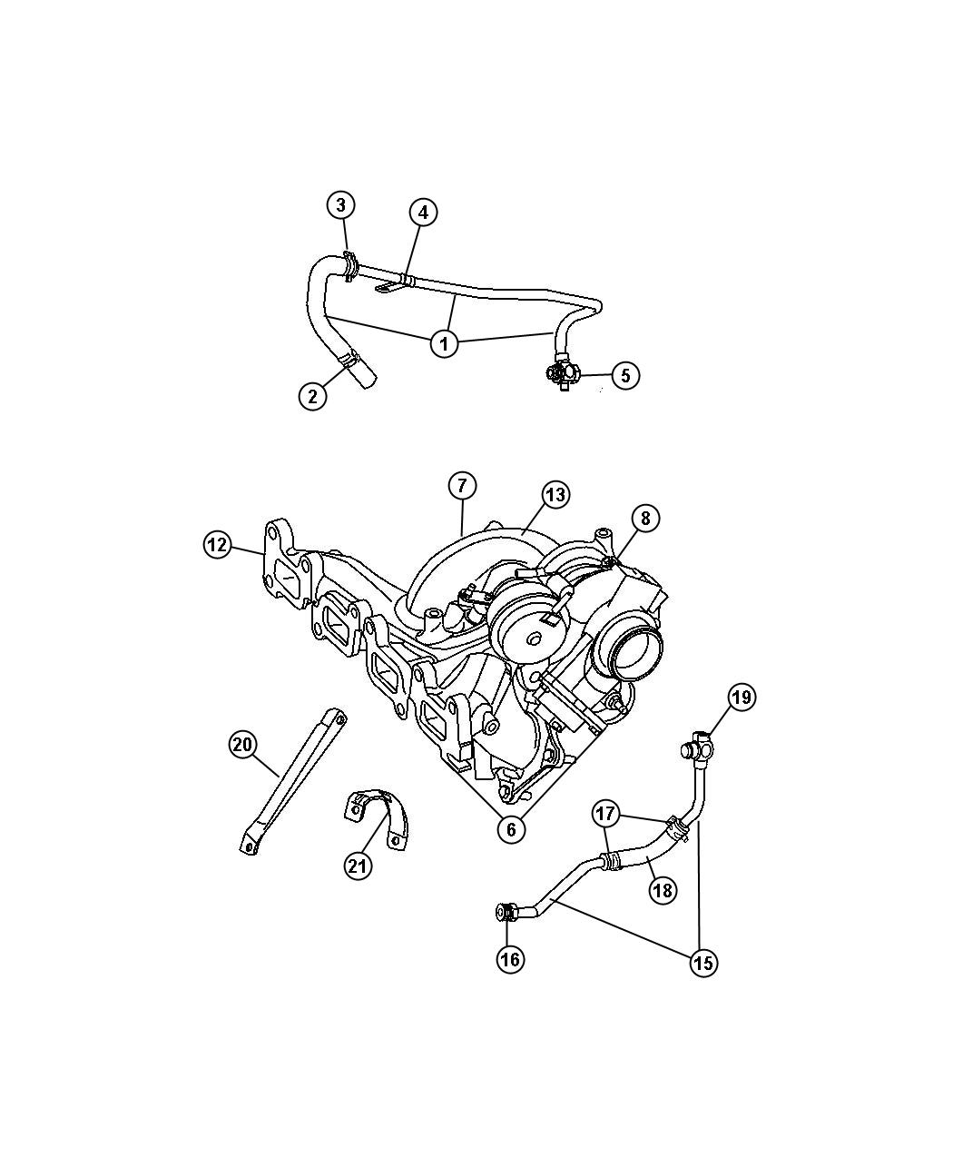 2008 Chrysler Aspen Turbocharger  See  Reference  Edj