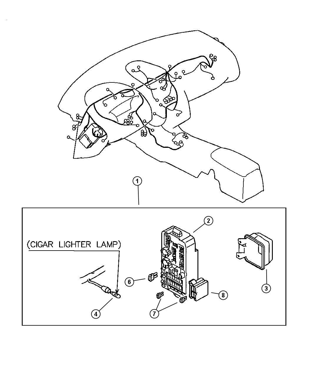 Chrysler Sebring Block. Chassis harness. Panel - MR969424 ...