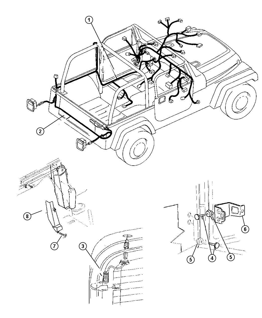 jeep patriot wiring  rear bumper  bumper  rear foglamp