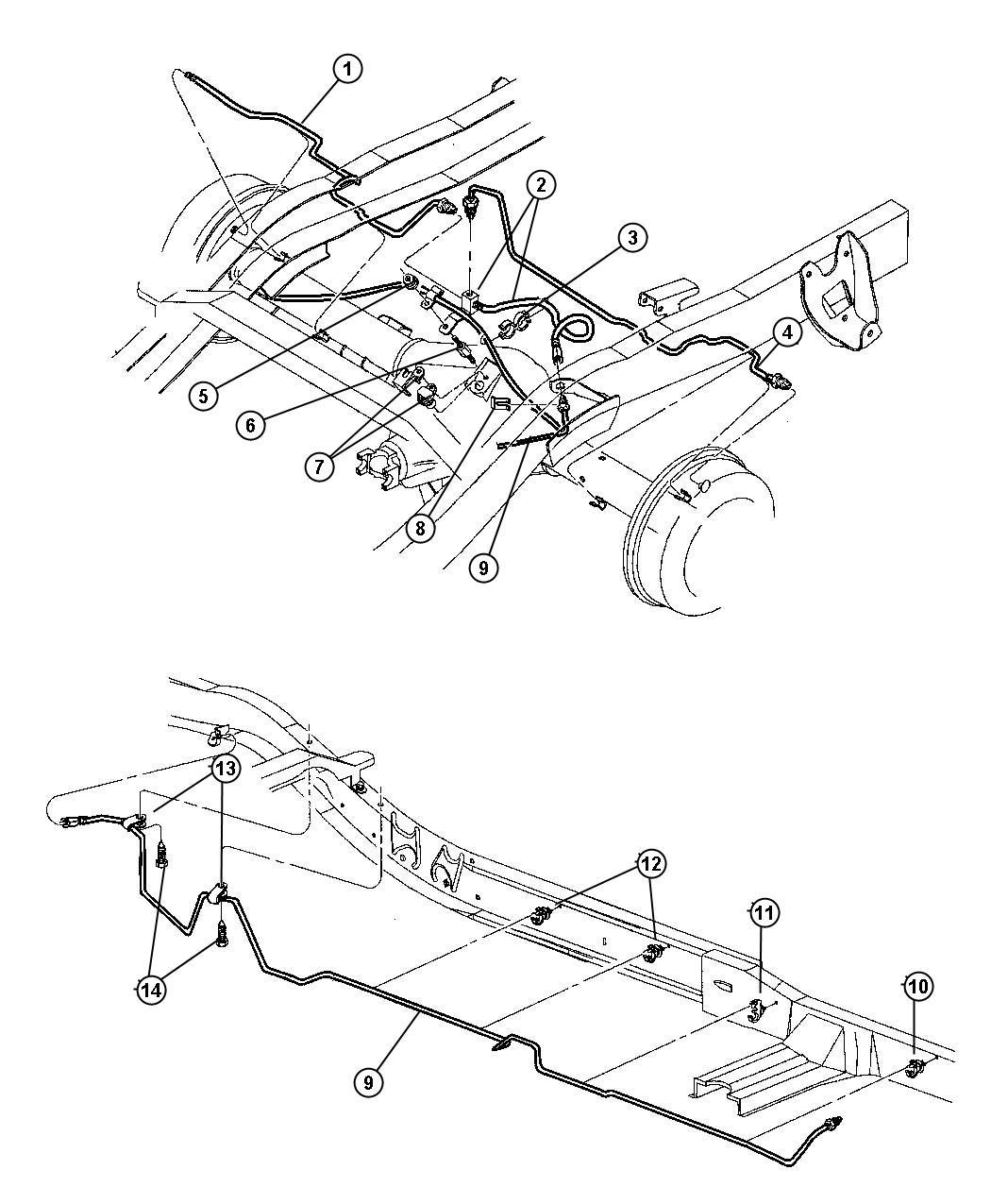 1999 Dodge Dakota Tube  Brake  Right    Corporate 8 25 Rear Axle  9x2 5 Hd Rear Drum