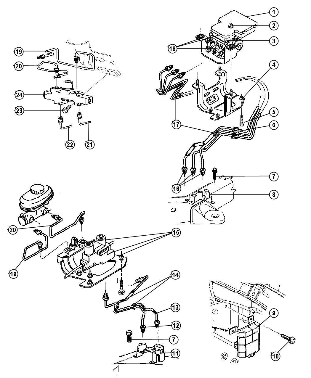 Dodge Ram 1500 Module  Anti-lock Brakes   4-wheel Anti-lock Brakes
