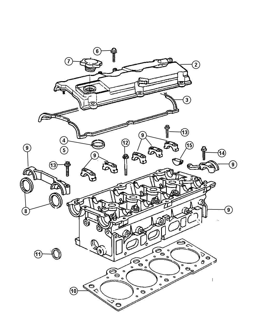 2004 Dodge Stratus Gasket  Cylinder Head Cover  Valve