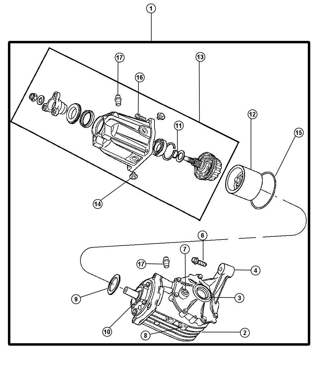 2005 chrysler pacifica bushing  rear  axle mount  contains