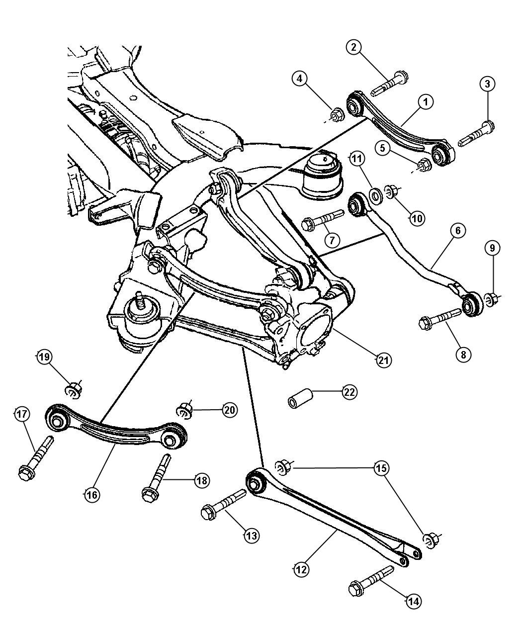 2008 Chrysler Pacifica Camber Link  Right  Suspension