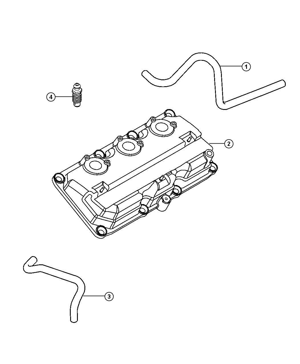 Chrysler Pacifica Hose. Positive crankcase ventilation ...