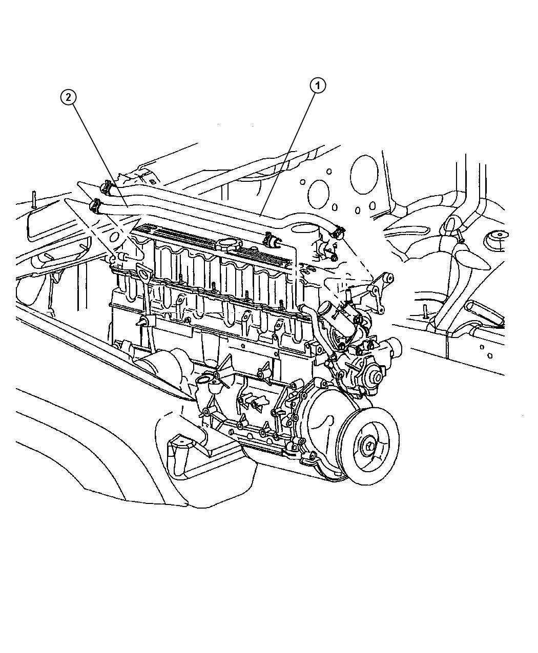 2003 Jeep Grand Cherokee Hose  Heater Return  Hoses  Mopar