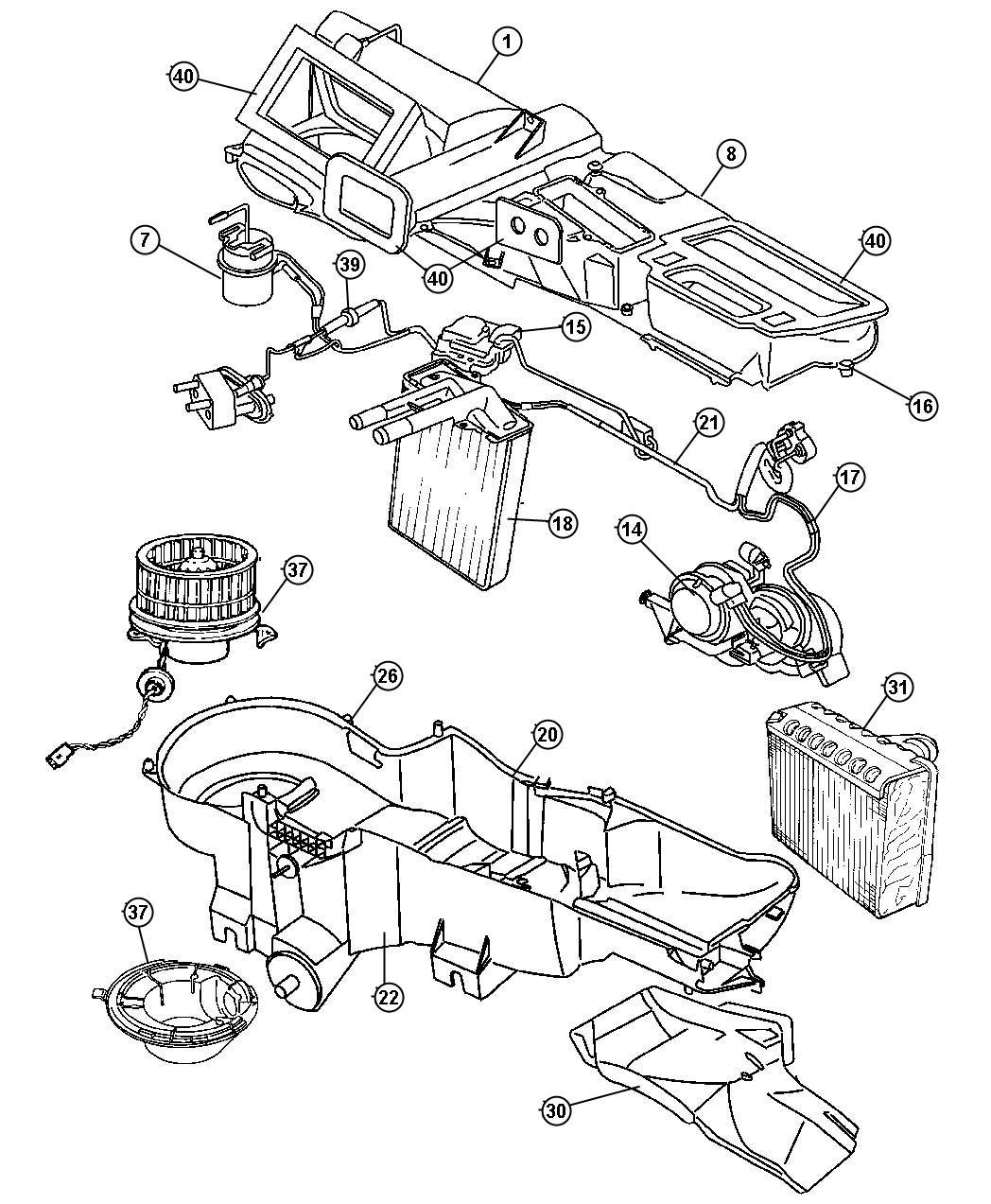 2007 dodge ram 1500 evaporator  air conditioning  coil