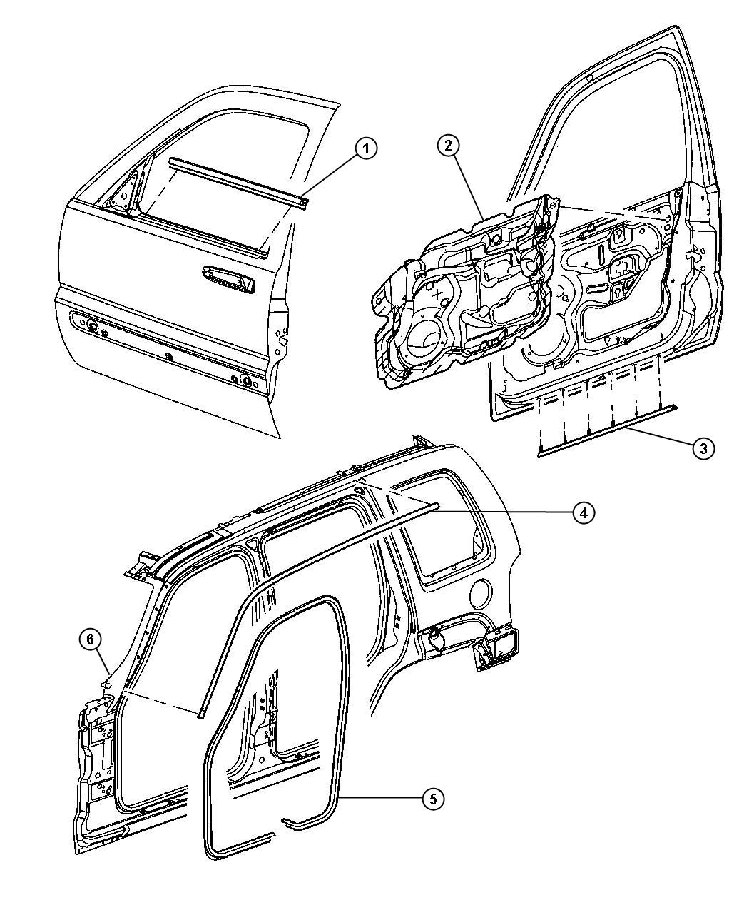 dodge avenger body part diagram