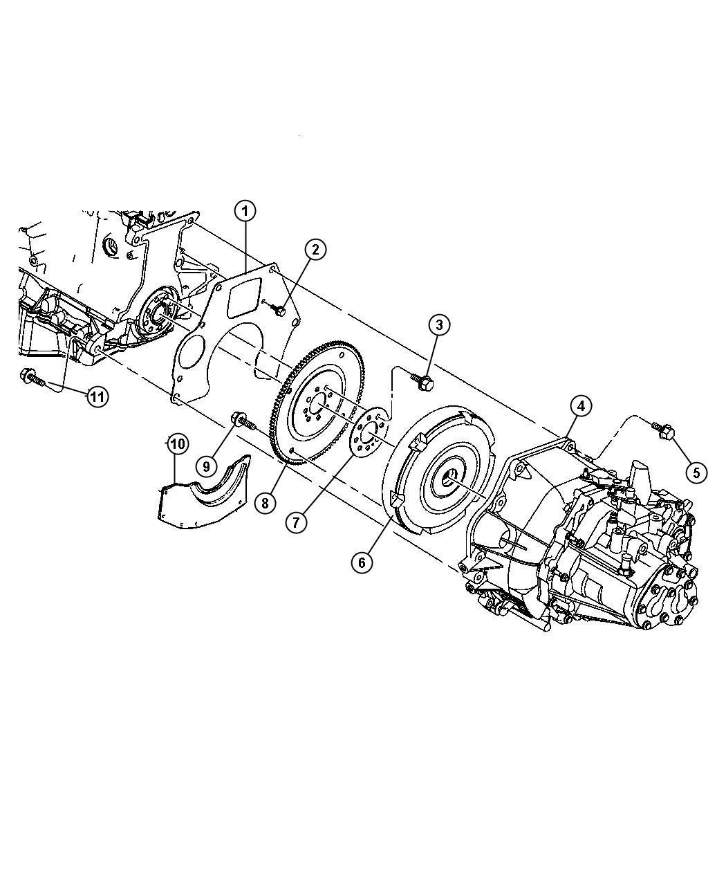 Chrysler Pt Cruiser Transaxle  Mounting  Overall  Gear
