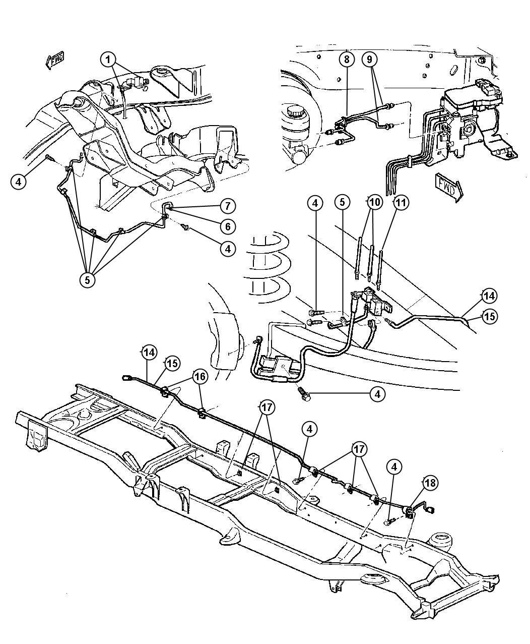 1998 chrysler sebring tube  brake  primary  rear  secondary