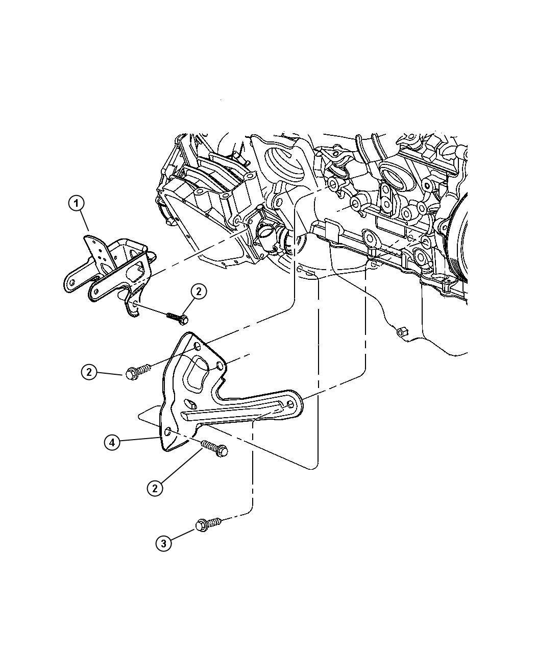 Chrysler Town  U0026 Country Bracket  Engine Mount