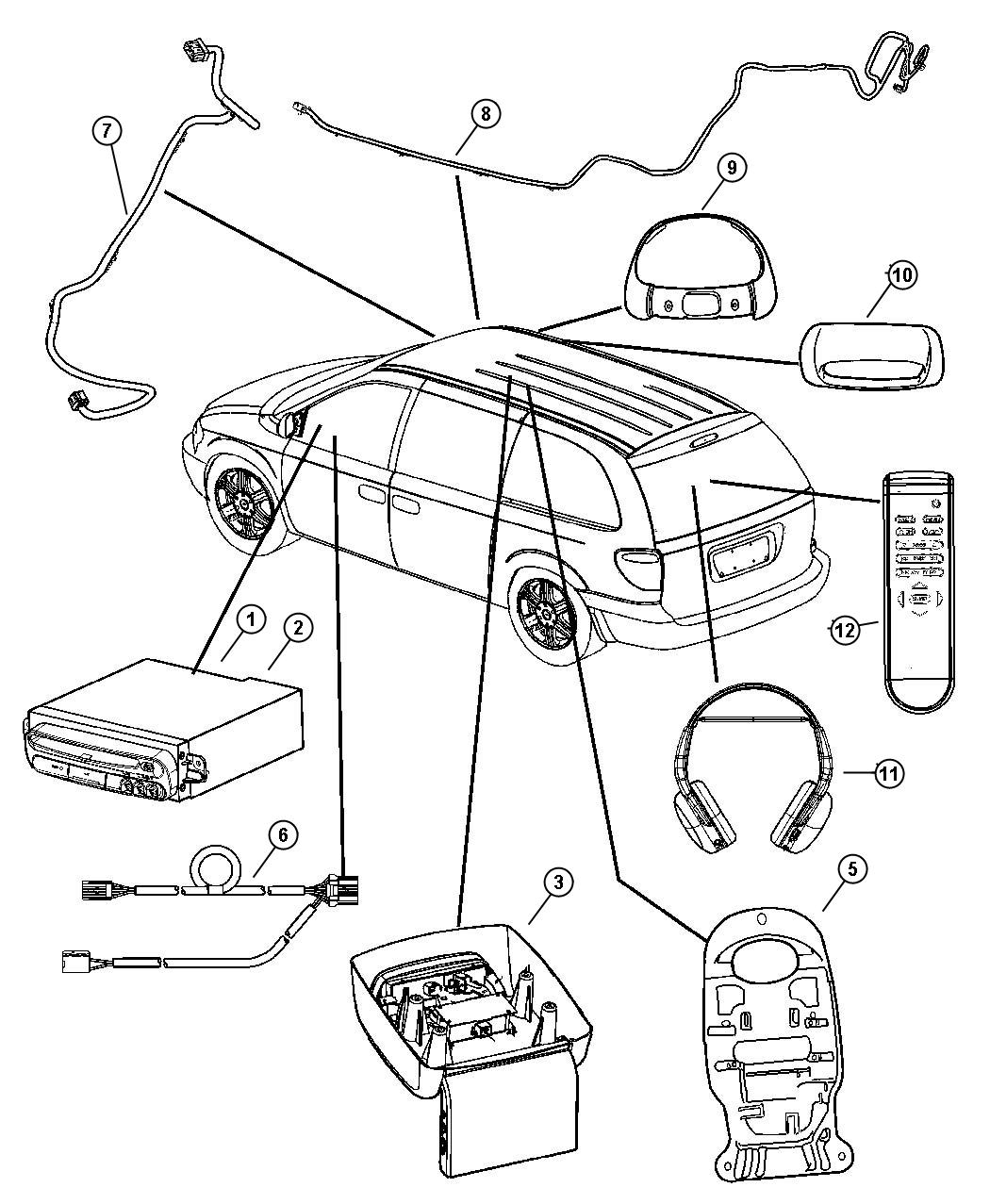 Dodge Grand Caravan Wiring  Dvd To Auxiliary Jack  System