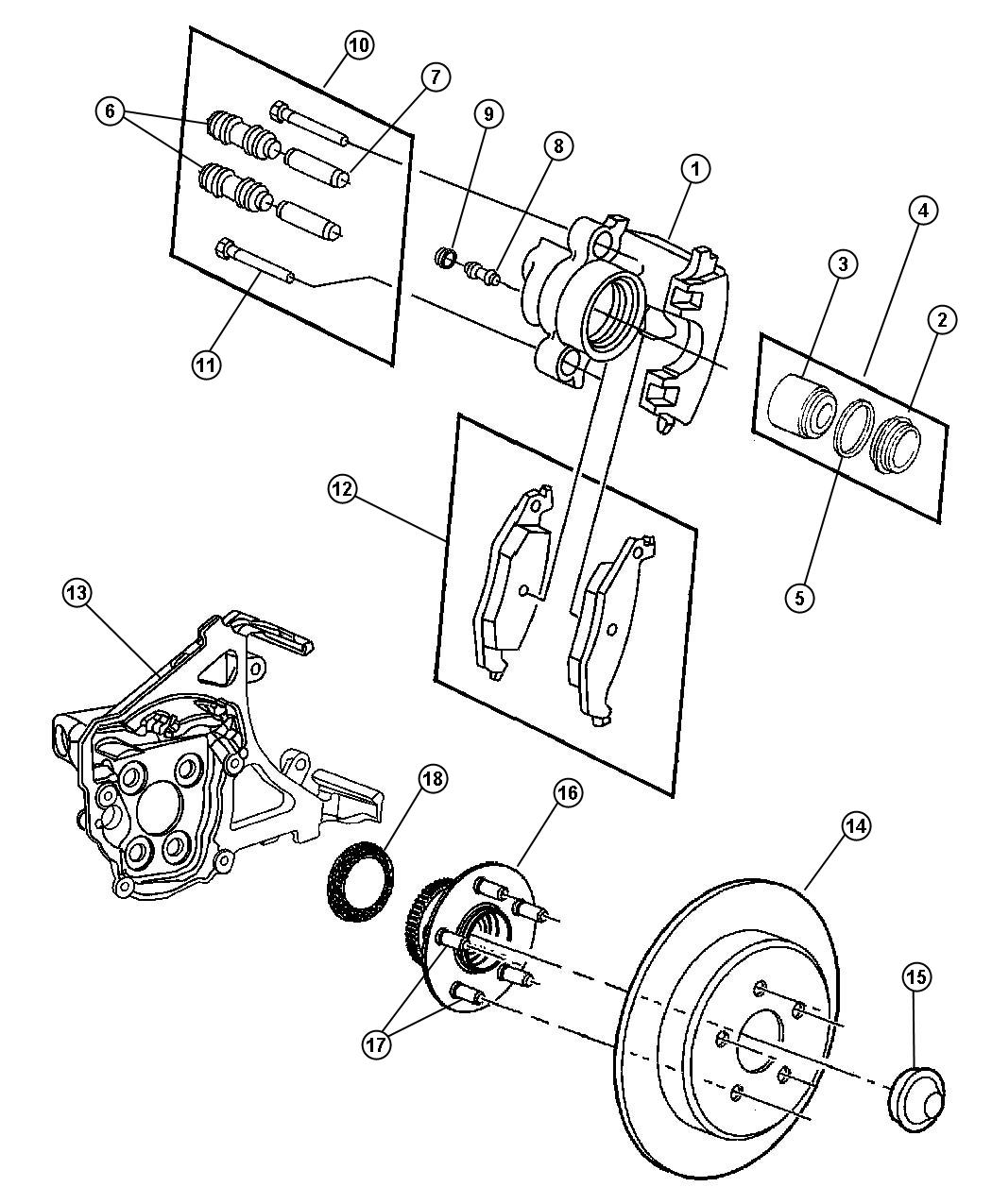 Dodge Neon Rotor  Brake  Rear