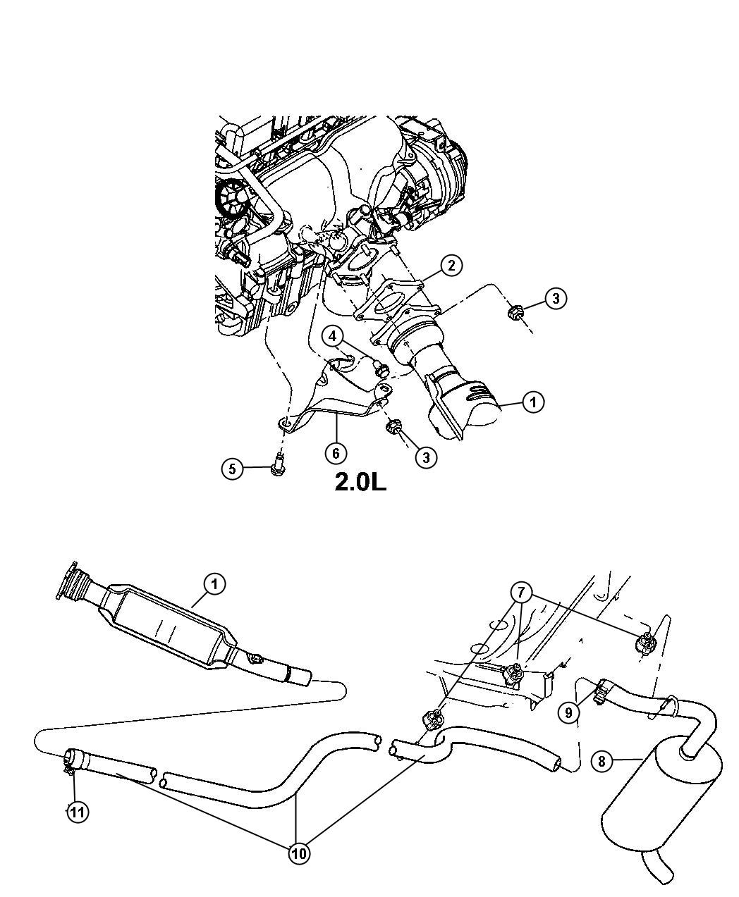 2003 jeep liberty catalytic diagram