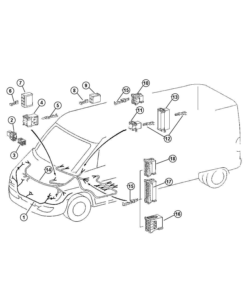 2013 Dodge Journey Insulator  6 Way Male